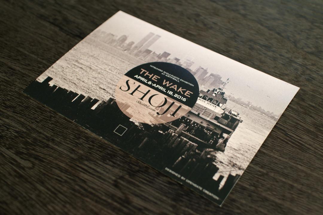 グラフィックデザイン 制作実績 ポストカード shoji mitsuhiro