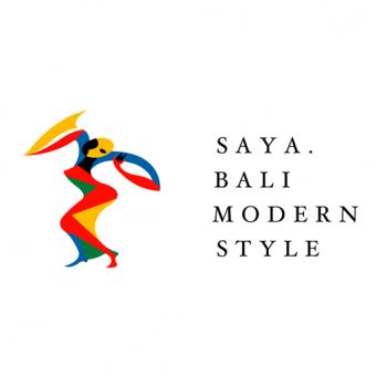 バリ島のダンサーがモチーフのシンボルマーク。