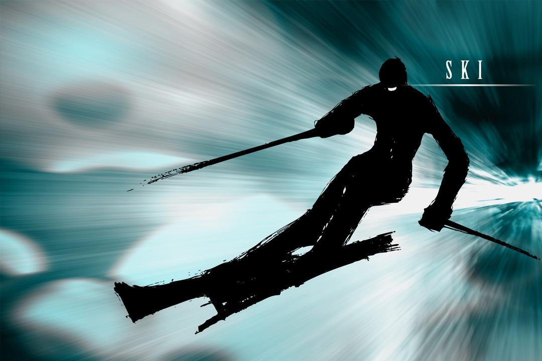 SHP Dent. かながわ スポーツイラスト スキー